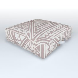 Simply Tribal Tile in Red Earth on Lunar Gray Outdoor Floor Cushion