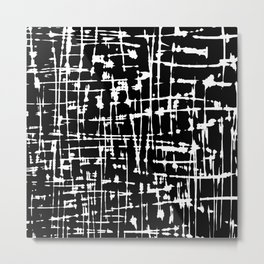 Abstract black and white artwork Metal Print