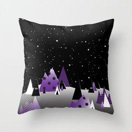 Geometric Nigh Sky Throw Pillow