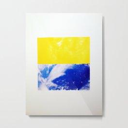 SKY/YLO Metal Print