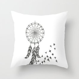 Catch my dreams Throw Pillow