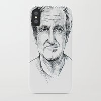 robin williams iPhone & iPod Cases featuring Robin Williams by Andrew Brennan