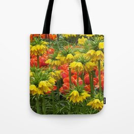 YELLOW CROWN IMPERIAL GREENHOUSE GARDEN Tote Bag