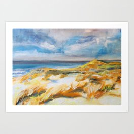 The Dunes in Ostend Art Print