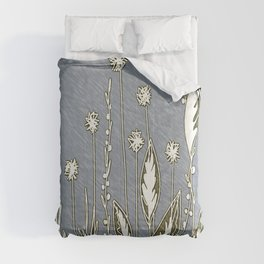 Flowers and leaves in the fields Comforters