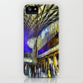 Kings Cross Rail Station Van Gogh iPhone Case