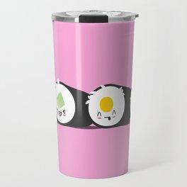 Happy Sushi! - Vector Travel Mug