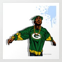packers Art Prints featuring Packers Mood by Mike Farhat Art Mobb