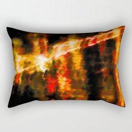 "City lights through a different lens - ""The Timeline"" Rectangular Pillow"