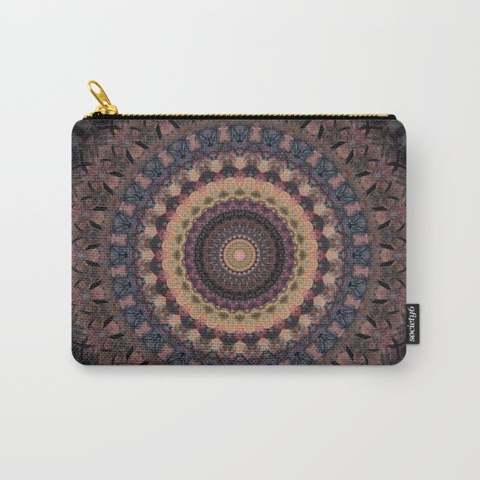 Mandala in purple and brown tones Carry-All Pouch