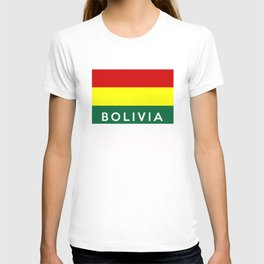 bolivia country flag name text T-shirt