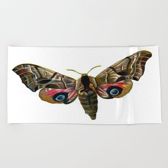 Moth Beach Towel