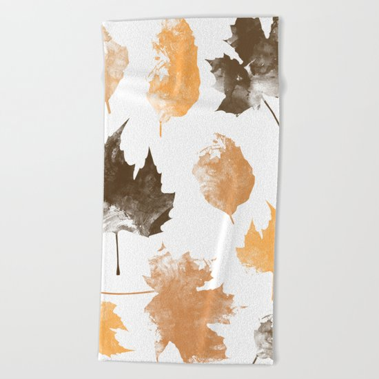 autumn, leaves, Beach Towel