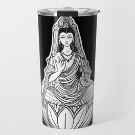 Chinese god. Beautiful goddess. Peace. Beauty concept. Meditation. Healing concept. Chinese medicine Travel Mug