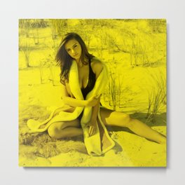 Emily Ratajkowski - Celebrity (Photographic Art) Metal Print