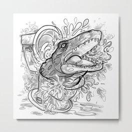Sewer Gator Metal Print