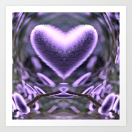 Sprouting Love (violet/green) Art Print