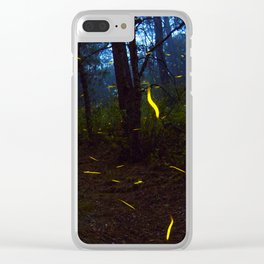 Fireflies Clear iPhone Case