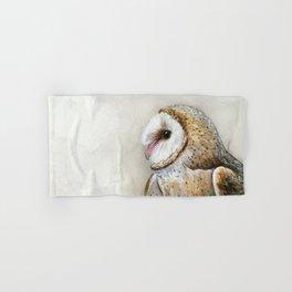 Barn Owl Watercolor, Birds Of Prey Wild Animals Owls Hand & Bath Towel