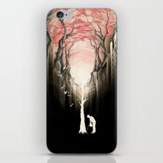 Revenge of the nature II: growing red forest above the city. iPhone & iPod Skin