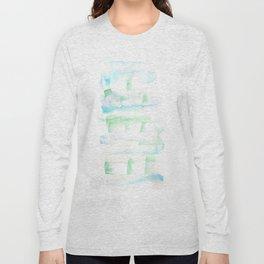 171122 Self Expression 1| Abstract Watercolors Long Sleeve T-shirt