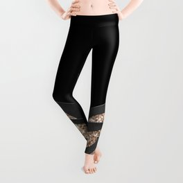 Gray Black Agave with Gold Glitter #1 #shiny #tropical #decor #art #society6 Leggings