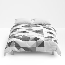Triangular Deconstructionism Light Mono Comforters