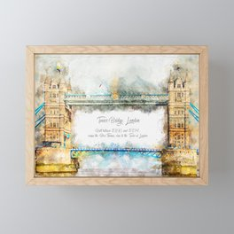 Tower Bridge, London, England Framed Mini Art Print