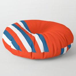 Retro Stripes Pop Art - Red White Blue Floor Pillow