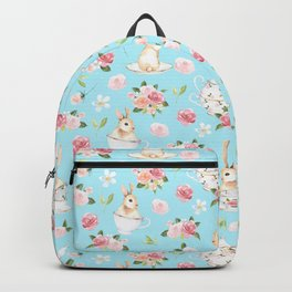 Tea Party with little Bunnies in spring Backpack