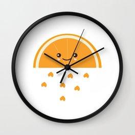 Fresh Orange Wall Clock