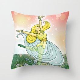 Cala blanca / Lily Throw Pillow
