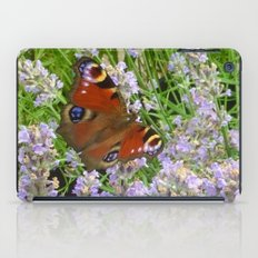 A Peacock Butterfly On A Laveder Bush iPad Case