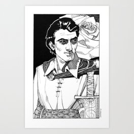 Lothario, Corwin from the Chronicles of Amber Art Print