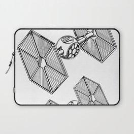 Starwars Tie Fighter Patent - Tie Fighter Art - Black And White Laptop Sleeve