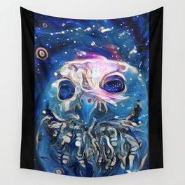 blue owl Wall Tapestry