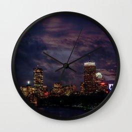 Boston at night Wall Clock