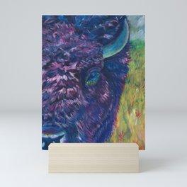 A Technicolor Bison Mini Art Print