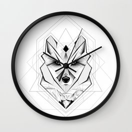 Geometric Wolf - Watching Wall Clock