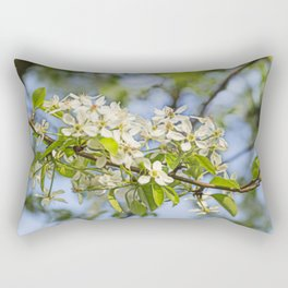 white pearblossom in the springtime Rectangular Pillow