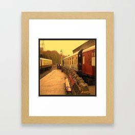Vintage Steam Railway Clock. Framed Art Print