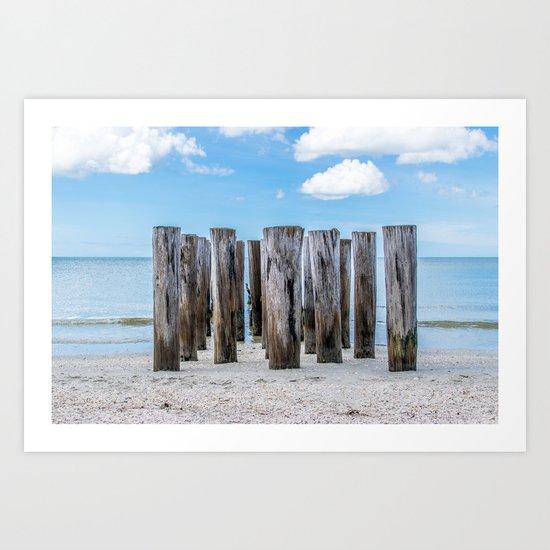 Pillar Beach Art Print