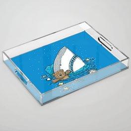 The Sleepy Shark Acrylic Tray