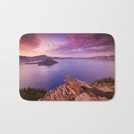 Crater Lake Sunset Bath Mat