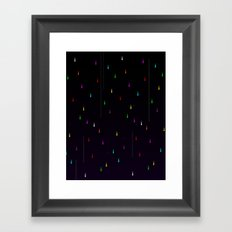 Electric Rain Framed Art Print