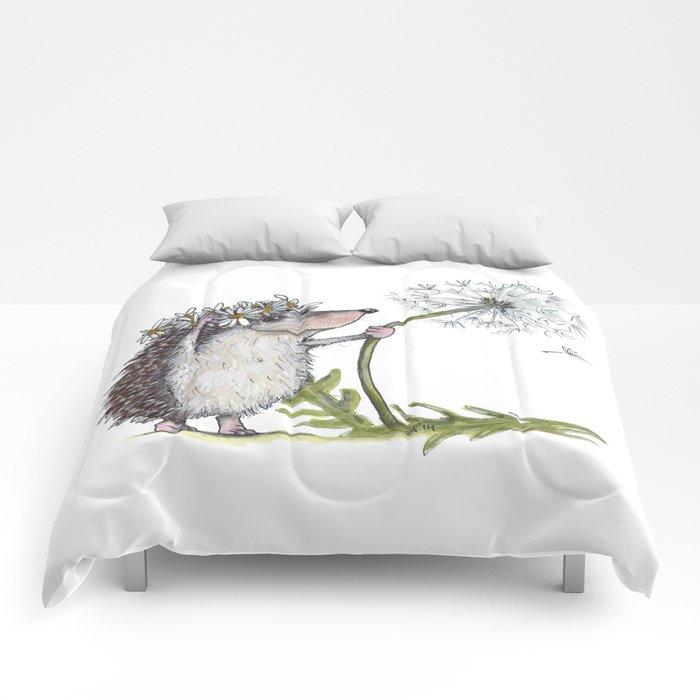 Hedgehog & Dandelion Comforters