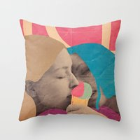 ice cream Throw Pillows featuring ice cream by Marco Puccini