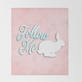 Follow the White Rabbit Throw Blanket