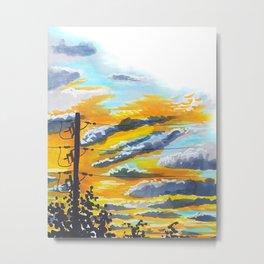 Suburban Sunset Metal Print