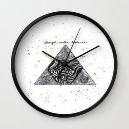 Strength, Order, Balance Triangle Wall Clock